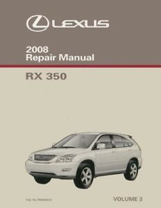 2008 lexus rx 350 shop service repair manual volume 3 only rh ebay com 2007 Lexus RX 400H Display Screen 2007 lexus rx400h service manual