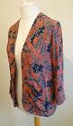 Size 12 Jacket Kimono NEW LOOK Brown Black Floral 0916