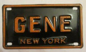 "VTG 1960/'s USA MINI BIKE LICENSE VANITY PLATE METAL EMBOSSED NOS NAME /""JUDY/"""
