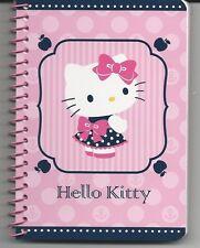Sanrio Hello Kitty Spiral Notebook Dots Bows