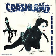 "CRASHLAND  Boom Boom PICTURE SLEEVE 7"" 45 rpm + juke box title strip NEW RARE"