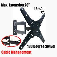 Tilt Swivel Extendable Arm Wall Mount For Led Lcd Plasma Tv Fits 26 To 47