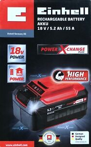 Einhell-18-V-5-2-Ah-P-X-C-Plus-Power-X-Change-Li-Ion-Akku-Kapazitaet-Plus