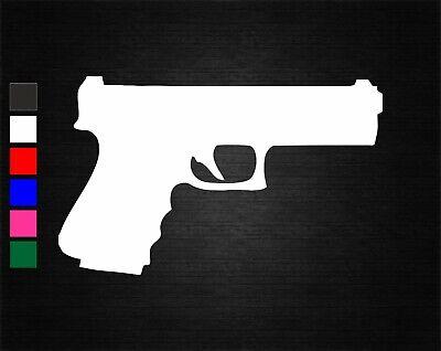 Hand pistol pew pew 2a gun Car Phone Laptop Decorative Vinyl Decal Sticker