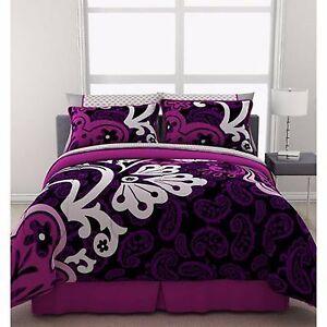 Girls Bedding Comforter Set Reversible Queen Size Duvet ...