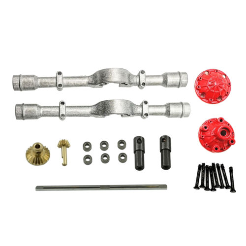 Metal Rear Axle Housing Drive Shafts for WPL D12 1//10 Crawler RC Car Accessories