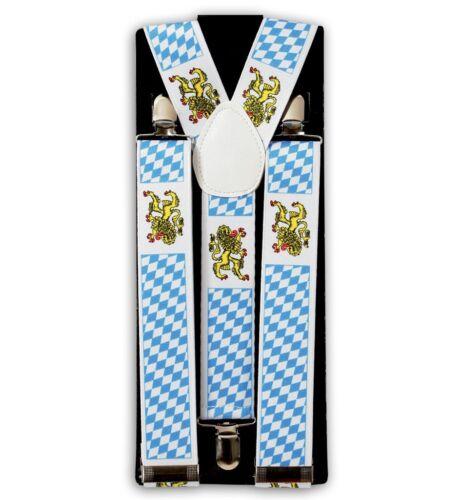 Hosenträger Bayernmuster Oktoberfest Blau Weiß Kariert Bayern Wappen 124434213F