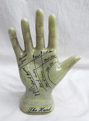 Life Size Ceramic Palmistry Hand - Antique Style, Lifelike. BNIB