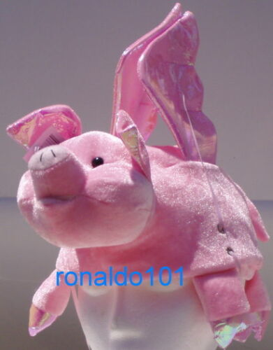 TWO PIG HATS WINGS NEW PLUSH FARM SWINE ANIMAL CAP OINK