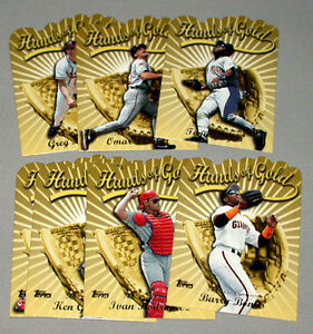1999-00-Topps-Hands-of-Gold-Insert-Limited-Edition-Full-Baseball-Set-of-7-Cards