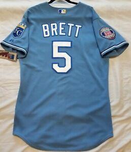 Authentic Majestic 52 2XL Kansas City Royals, GEORGE BRETT, BLUE ...