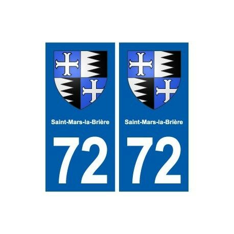 72 Saint-Mars-la-Brière blason autocollant plaque stickers ville droits