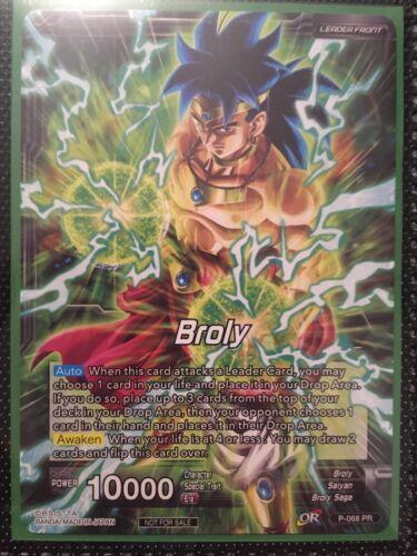 Legend/'s Dawning Dragon Ball Super Promo Card P-068 PR Leader Foil Broly //Broly