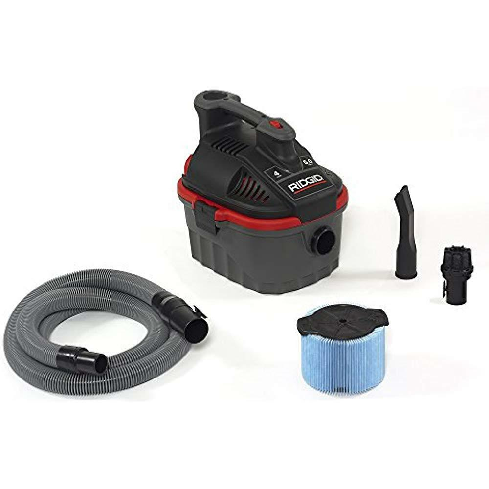 50313 4000RV Portable Wet Dry Vacuum, 4-Gallon Small With 5.0 Peak HP Motor, Pro