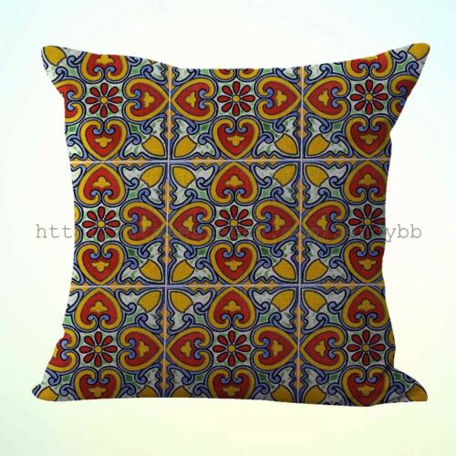 2pcs talavera Mexican Spanish washable throw pillow covers