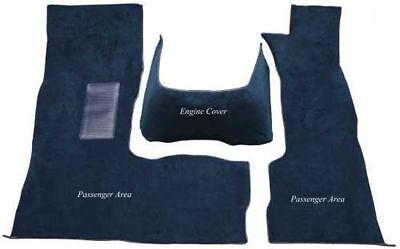 1999 to 2003 Dodge Full Size Van Carpet Custom Molded Replacement Kit 8019-Mist Grey Plush Cut Pile Front Passenger Area