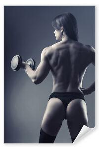 Postereck-3111-Poster-amp-Leinwand-Frau-Fitness-Sport-Training-Bodybuilding