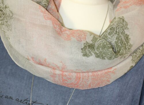 SCIARPA circolare XXL SCIARPA Ornament Taupe Marrone WOW SCIARPA SCARF IT Fashion h//m-301