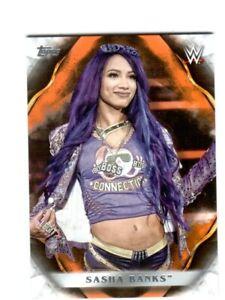 WWE-Sasha-Banks-63-2019-Topps-Undisputed-Orange-Parallel-Card-SN-79-of-99