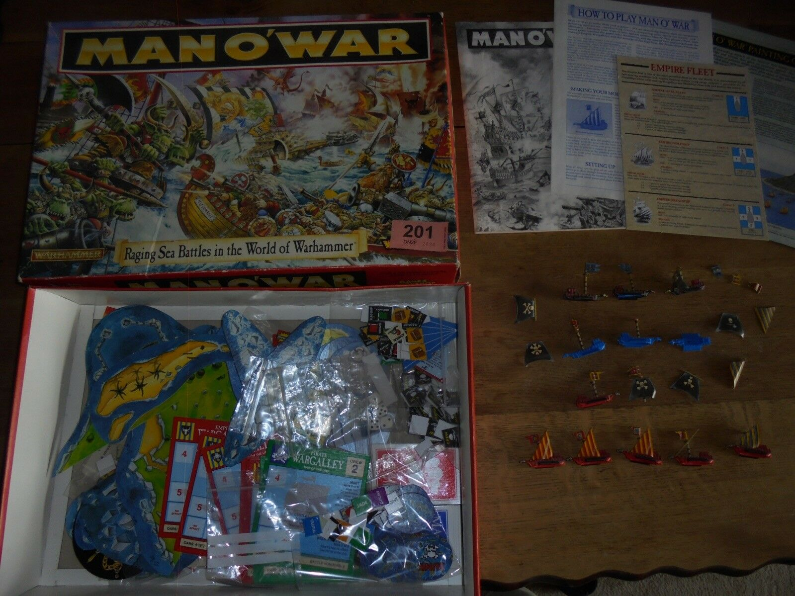 Games Workshop Man O War Fantasy High Seas Battle Board Game Complete