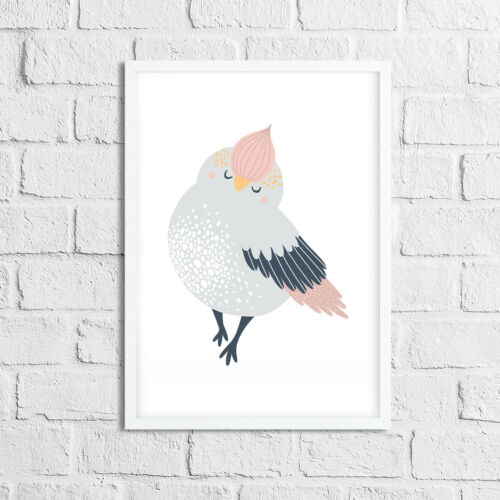Baby Bedroom Decor Cute Scandinavian Style Nursery Prints With Birds