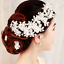 Luxury-Rhinestone-Crystal-Pearl-Flower-Tiara-Crown-Bridal-Headband-Hair-Band thumbnail 7