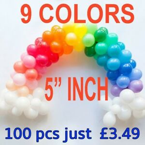 Wholesale job lot 5 inch balloons 10 colours party birthday wedding image is loading wholesale job lot 5 034 inch balloons 10 junglespirit Images