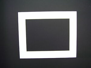 Picture Framing Mats 8x10 For 6x9 Photo White Rectangle Opening Ebay