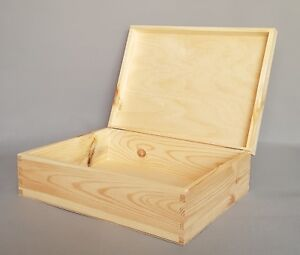 Image Is Loading Plain Wood Storage Square Box Large Wooden Bo