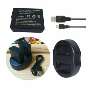 Dual-usb-Charger-Two-2-Battery-for-Panasonic-DMW-BLC12-DMC-FZ300-DMC-G6-DMC-G7