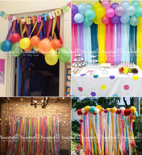 6X Crepe Paper Rolls 81ft , Streamer Wedding Birthday Party Decoration  Curtain