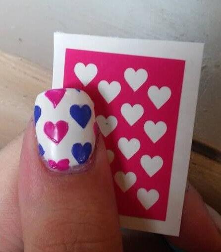 Heart Nail Art Stencils!!! 20 Stencils!!!