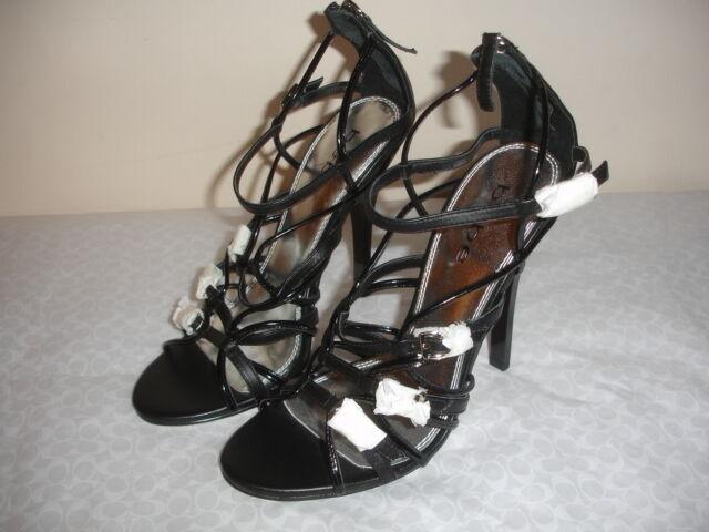 Nuevo Bebe Sonora Cuero Tamaño 8.5 Negro Zapatos Zapatos Zapatos Sandalias con Tiras Tacones De 4 3 4  mujeres 832aa1