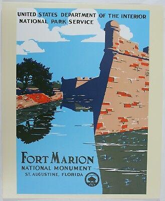 Fort Marion National Monument WPA Vintage Travel Poster