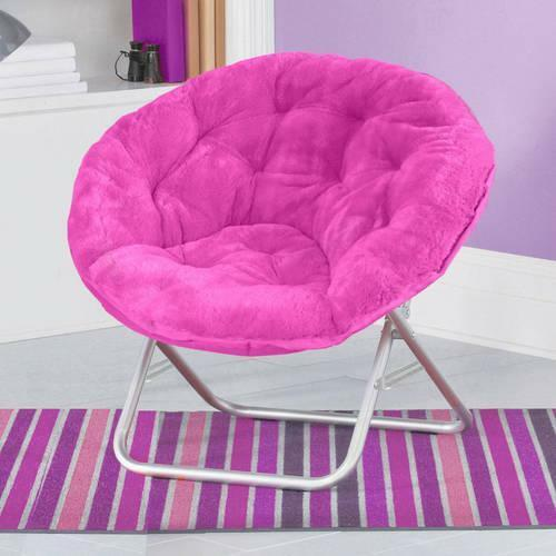 Folding Saucer Mainstays Chair Soft Faux Fabric Furniture Multiple ...