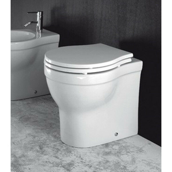 Vaso Wc bagno da terra design X.One in ceramica bianco