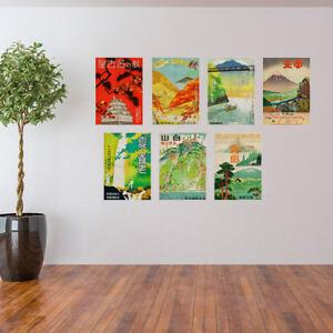 Vintage-Japanese-Travel-Poster-Cloth-Prints-A3-Size-Wall-Art-Home-Decor-Retro