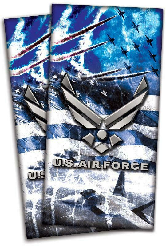 US Air Force Cornhole Bag Toss Wrap Set
