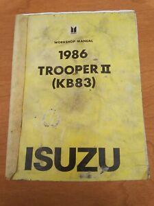 1986 Isuzu Trooper Ii Workshop Manual Kb83 Turbo Diesel C223 C223t 2 2 Ebay