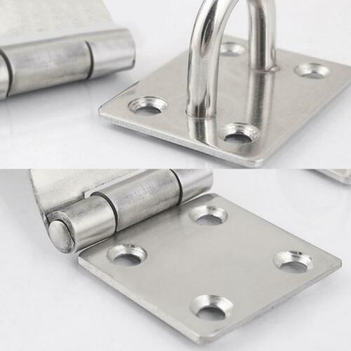 Padlock Clasp Shed Door Lock Hatch Hasp Safety Gate Latch Stainless Steel S//M