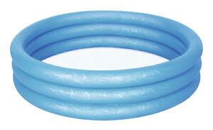Piscina Gonfiabile Per Bambini Bestway A 3 Anelli 120x25 Cm 101 Litri Blu