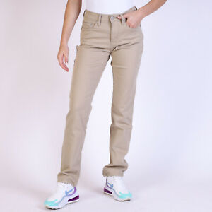 Levi-039-s-505-Straight-leg-Damen-Beige-Jeans-DE-38-W31-L32