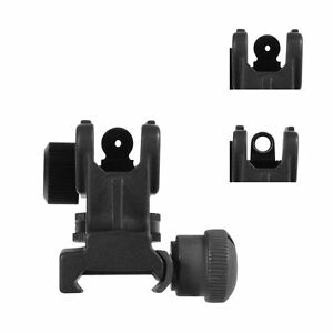 Adjustable-Rear-Iron-Sight-Post-Fixed-Match-Grade-Mount-For-20mm-Rail-Hunting