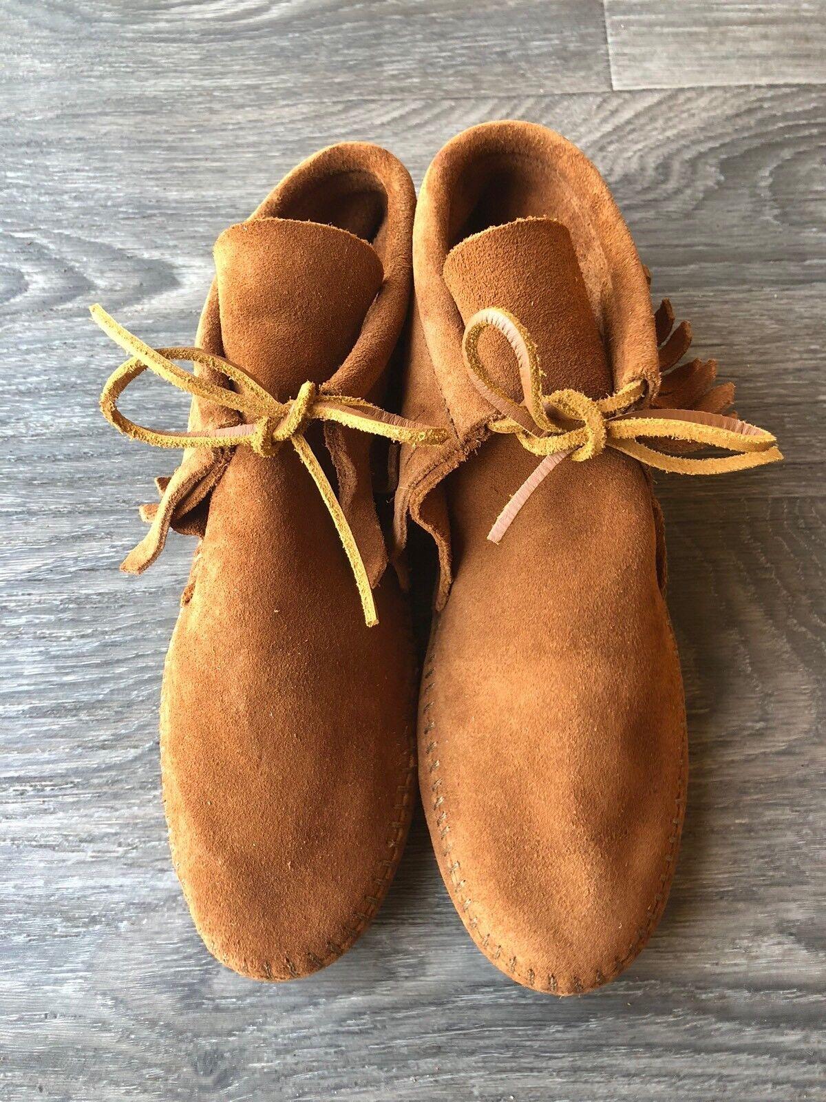 NEW Minnetonka Women's Classic Fringe Softsole Boots Brown Size 6.5