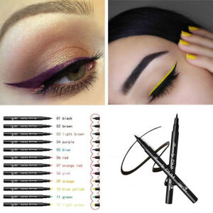 Matte-Eyeliner-Waterproof-Liquid-Long-Lasting-Eye-Liner-Pen-Party-Eye-12-colors