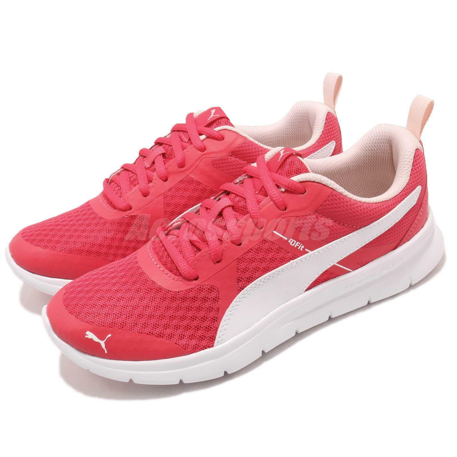Puma Flex Essential Pink White Men Women Running shoes Sneakers 365268-06
