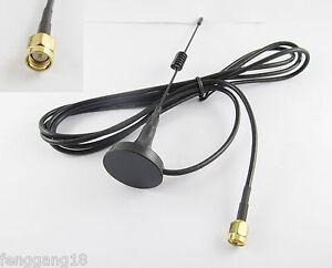 Sma Macho Crimp Rg174 Gsm Gprs 433 Mhz Antena Cable 1,5 m 3dbi Base Magnética Ham