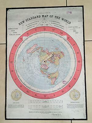 Erde Ist Flach +Aufkl flat earth map Gleason/'s New Standard Map of the World