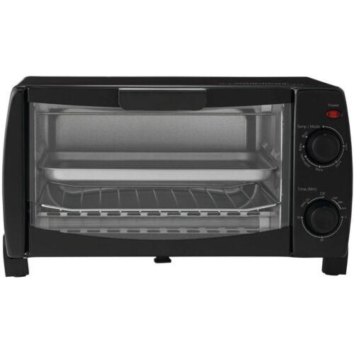 Kleingerte Kche Mainstays MG10BFK-B 4-Slice Toaster Oven Black ...