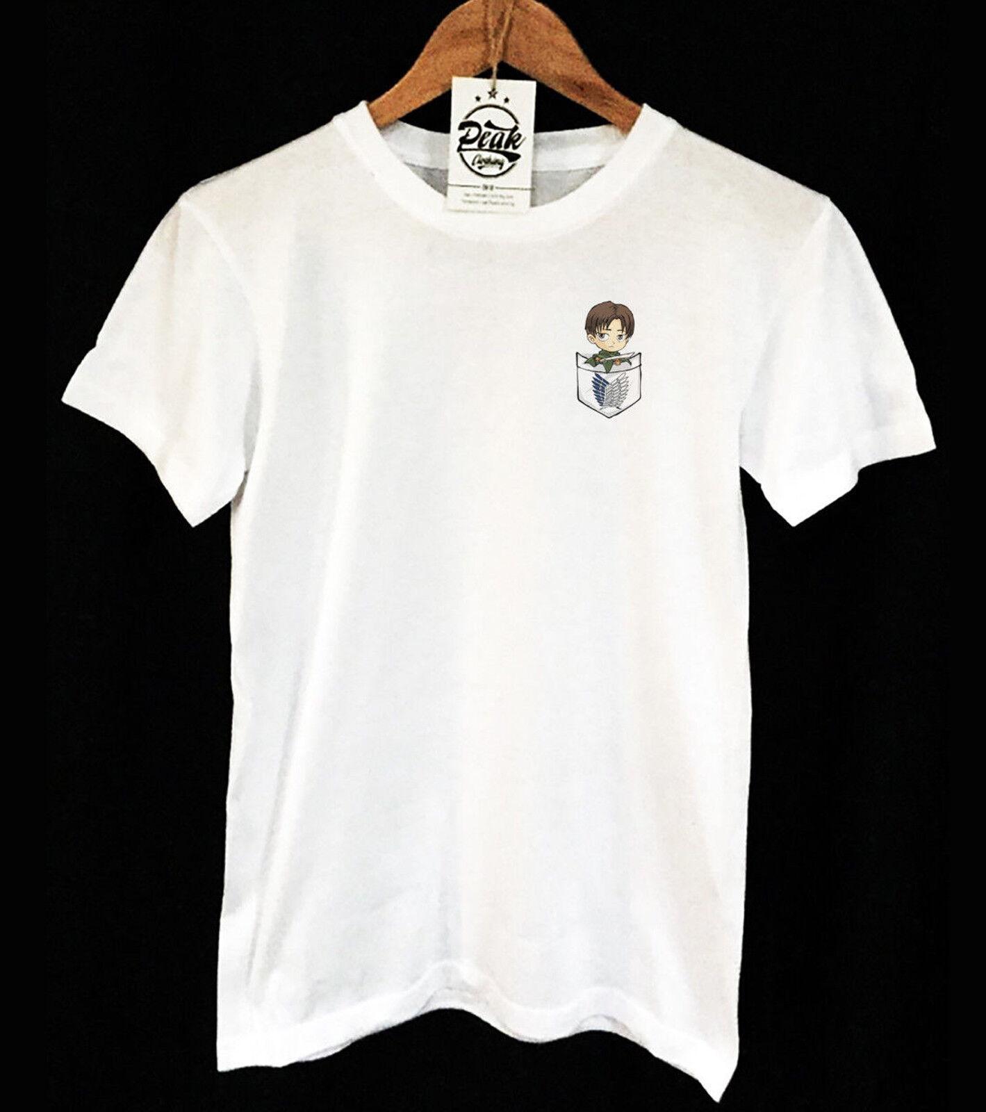 CHIBI CHIBI CHIBI eren Imprimer T-shirt poche-Attaque sur Titan-ANIME-vêtements pic-Unisexe 69e1dd